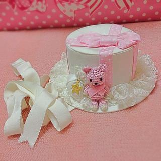 アンジェリックプリティー(Angelic Pretty)のくまちゃんハットドレス 白×ピンク(ハット)