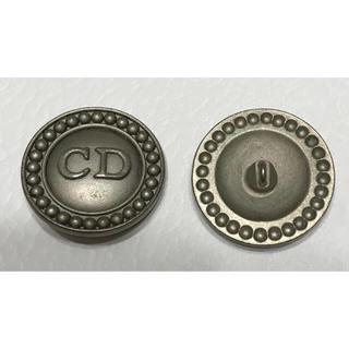 クリスチャンディオール(Christian Dior)のクリスチャンディオール★ロゴボタン マットシルバー 27mm 柄A Dior (各種パーツ)