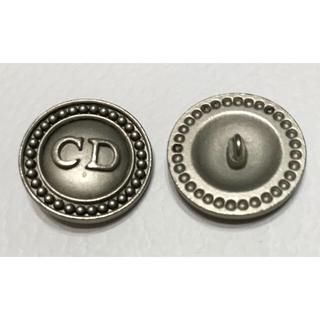 クリスチャンディオール(Christian Dior)のクリスチャンディオール★ロゴボタン マットシルバー 25mm 柄A Dior (各種パーツ)
