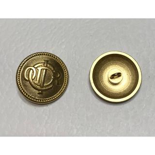 クリスチャンディオール(Christian Dior)のクリスチャンディオール★ロゴボタン ゴールド 23mm 柄C Dior(各種パーツ)