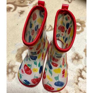 ムージョンジョン(mou jon jon)のmoujonjon (ムージョンジョン) 花レインシューズ 17㎝(長靴/レインシューズ)