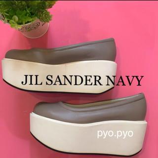 ジルサンダー(Jil Sander)のJIL SANDER NAVY ☆ウェッジソールシューズ(ローファー/革靴)