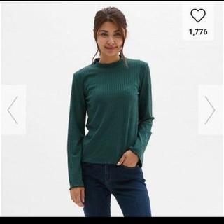 ジーユー(GU)のGU 新品メローリブT Lサイズ(Tシャツ(長袖/七分))