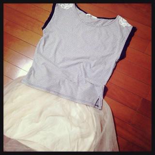 ミスティウーマン(mysty woman)のボーダー マリンTシャツ(Tシャツ(半袖/袖なし))