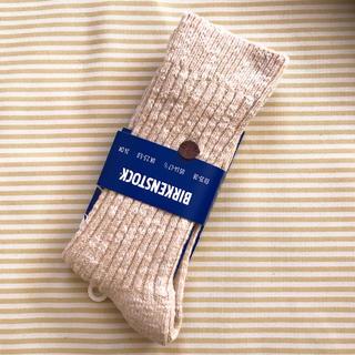 ビルケンシュトック(BIRKENSTOCK)のビルケンシュトック BIRKENSTOCK 靴下 ロンドン ベージュ(ソックス)