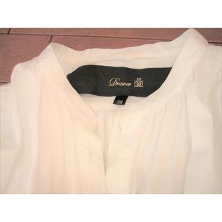 ドゥロワー(Drawer)の限定SALE☆Drawerドゥロワー☆シャツドレス シャツコート ☆ホワイト(ひざ丈ワンピース)