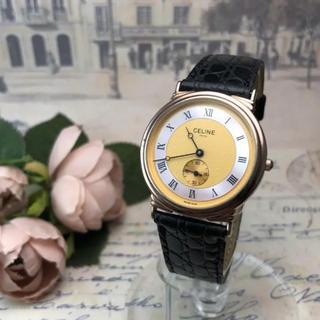 セリーヌ(celine)の極美品✨セリーヌ CELINE ✨ヴィンテージ  新品ベルト 電池交換済 腕時計(腕時計)