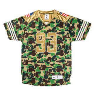 アディダス(adidas)のadidas×bape football jersey Lサイズ(Tシャツ/カットソー(半袖/袖なし))