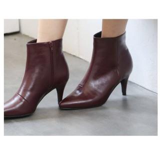 ワインカラー ショートブーツ Mサイズ(ブーツ)