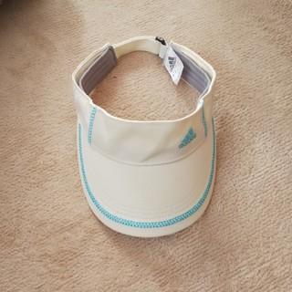 アディダス(adidas)のアディダス サンバイザー マジックテープでサイズ調整らくらく(キャップ)
