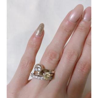 エテ(ete)のete ゴールド 9号 リング 2本セット 色が変わるストーン(リング(指輪))