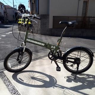 ハマー(HUMMER)のハマー 折り畳み式自転車 ダブルサスペンション(自転車本体)