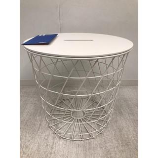 IKEA - KVISTBRO クヴィストブロー 収納テーブル, ホワイト, 44 cm