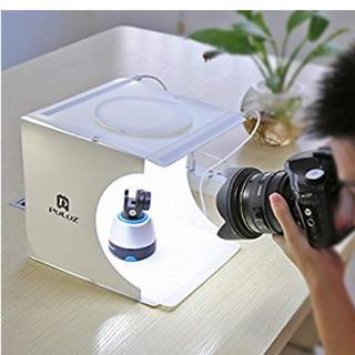 大人気⭐︎撮影ボックス22*23*24cm折りたたみ式簡易撮影スタジオ(ストロボ/照明)