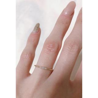 アガット(agete)のアガット agete 10k イエローゴールド マット 飾り彫り 華奢(リング(指輪))