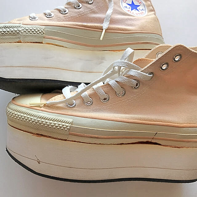 CONVERSE(コンバース)のレア 90s ヴィンテージ USAコンバース  厚底  jantiques  レディースの靴/シューズ(スニーカー)の商品写真