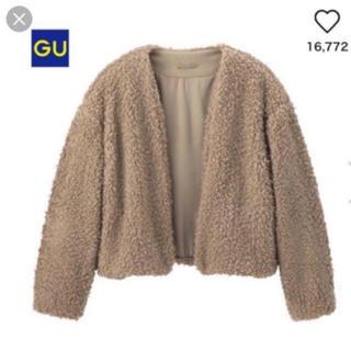 ジーユー(GU)のgu ボアブルゾン モコモコアウター M(毛皮/ファーコート)