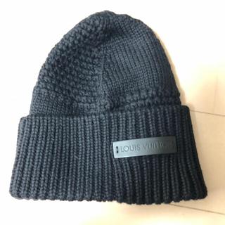 ルイヴィトン(LOUIS VUITTON)のルイヴィトン 帽子 フリーサイズ 超美品 ブラック(ニット帽/ビーニー)