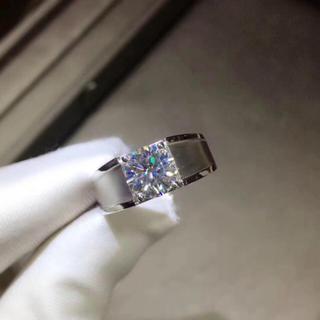 【2カラット】輝くモアサナイトダイヤモンド リング(リング(指輪))