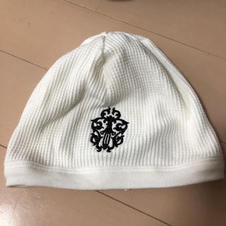 クロムハーツ(Chrome Hearts)のクロムハーツ フリーサイズ ホワイト 帽子 美品(ニット帽/ビーニー)