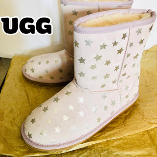 アグ(UGG)のUGG★ 新品 アグ 正規品 24 パープル 紫 スター ムートンブーツ ブーツ(ブーツ)