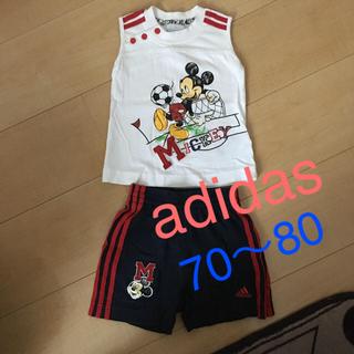 アディダス(adidas)のベビー ☆ adidas ☆ ミッキー サッカー ウェア(Tシャツ)