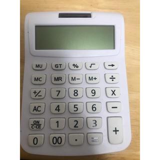 ムジルシリョウヒン(MUJI (無印良品))の電卓  ホワイト(オフィス用品一般)