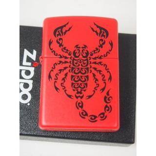ジッポー(ZIPPO)のZippo さそり スコーピオン 赤 レッド #29448 USA(タバコグッズ)