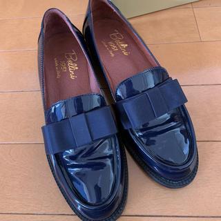 ディエゴベリーニ(DIEGO BELLINI)の価格変更!DIEGO BELINI エナメルリボンローファーネイビー(blue)(ローファー/革靴)