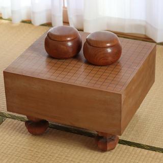 囲碁セット 5寸足付碁盤セット 本蛤碁石(囲碁/将棋)