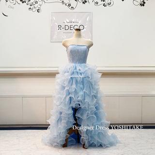 ウエディングドレス 上半身レース・前空きスカート ブライダル二次会ドレス(ウェディングドレス)