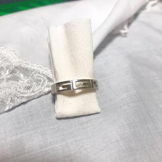 グッチ(Gucci)の美品 GUCCI グッチ Gリング 指輪 750 K18(リング(指輪))