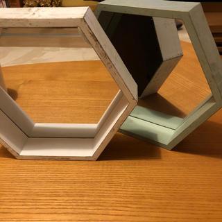 壁掛け鏡 2組(壁掛けミラー)