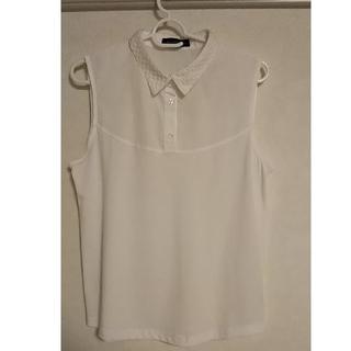 シマムラ(しまむら)の重ね着専用タンクトップ M 白 しまむら商品(タンクトップ)