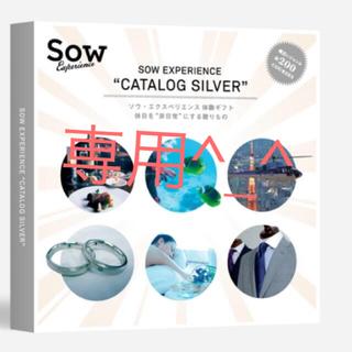 ソウ カタログ SOW EXPERIENCE CATLOG SILVER(その他)