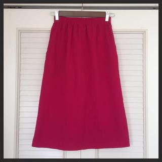 ローズバッド(ROSE BUD)のショッキングピンク◎ミモレ丈スカート(ひざ丈スカート)
