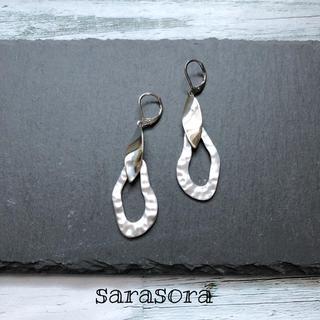 353 silver  drop earrings (ピアス)