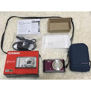 カシオ(CASIO)の‼️新品同様‼️EXILIM EX-ZR1700 & SDカード & ケース付(コンパクトデジタルカメラ)