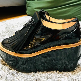 ヴィヴィアンウエストウッド(Vivienne Westwood)のヴィヴィアンウエストウッド  ロッキンホースシューズ ゴルフ エナメル(ローファー/革靴)