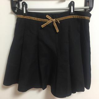 シマムラ(しまむら)のしまむら キュロットスカート ブラック 黒 M(キュロット)