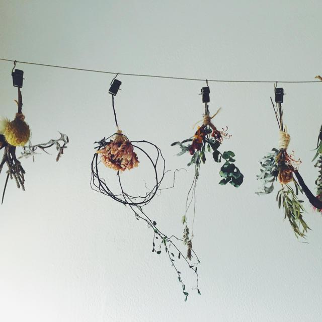 シャビースワッグガーランドo ハンドメイドのフラワー/ガーデン(ドライフラワー)の商品写真