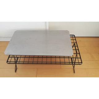ユニフレーム(UNIFLAME)のユニフレーム フィールドラック黒+ステンレス天板  (テーブル/チェア)