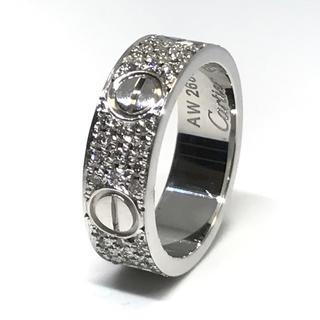 カルティエ(Cartier)のカルティエ ラブリング WG パヴェ ダイヤ (リング(指輪))