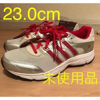 アディダス(adidas)の未使用★adidasレディース ランニングシューズ23.0cmワイド 白×ピンク(シューズ)