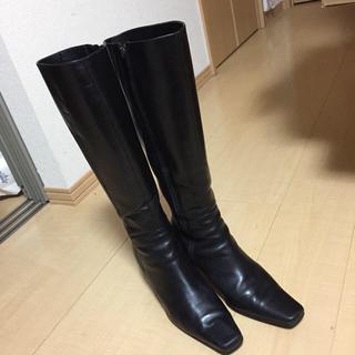 ニジュウサンク(23区)の23区 黒ロングブーツ(ブーツ)