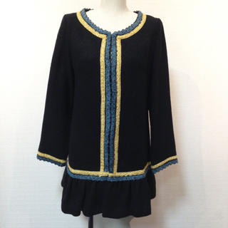アンナケリー(Anna Kerry)の美品✨Anna Kery❤️裾フリル ジャケット(ノーカラージャケット)