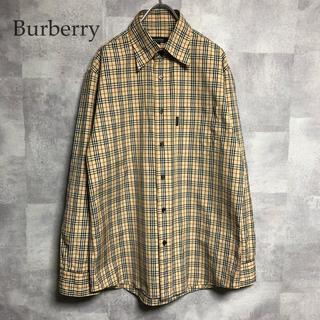 バーバリー(BURBERRY)の希少 Burberry BLACK LABELノバチェックシャツ ワンポイント(Tシャツ/カットソー(七分/長袖))
