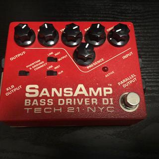 sansamp bass driver di vermilion(ベースエフェクター)