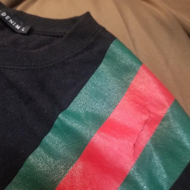 AVALANCHE(アヴァランチ)の最終値下げ[完売]クライムデニム GUCCI柄 ロンT メンズのトップス(Tシャツ/カットソー(七分/長袖))の商品写真