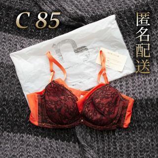 ニッセン(ニッセン)のC85 新品ブラ (オレンジ)(ブラ)